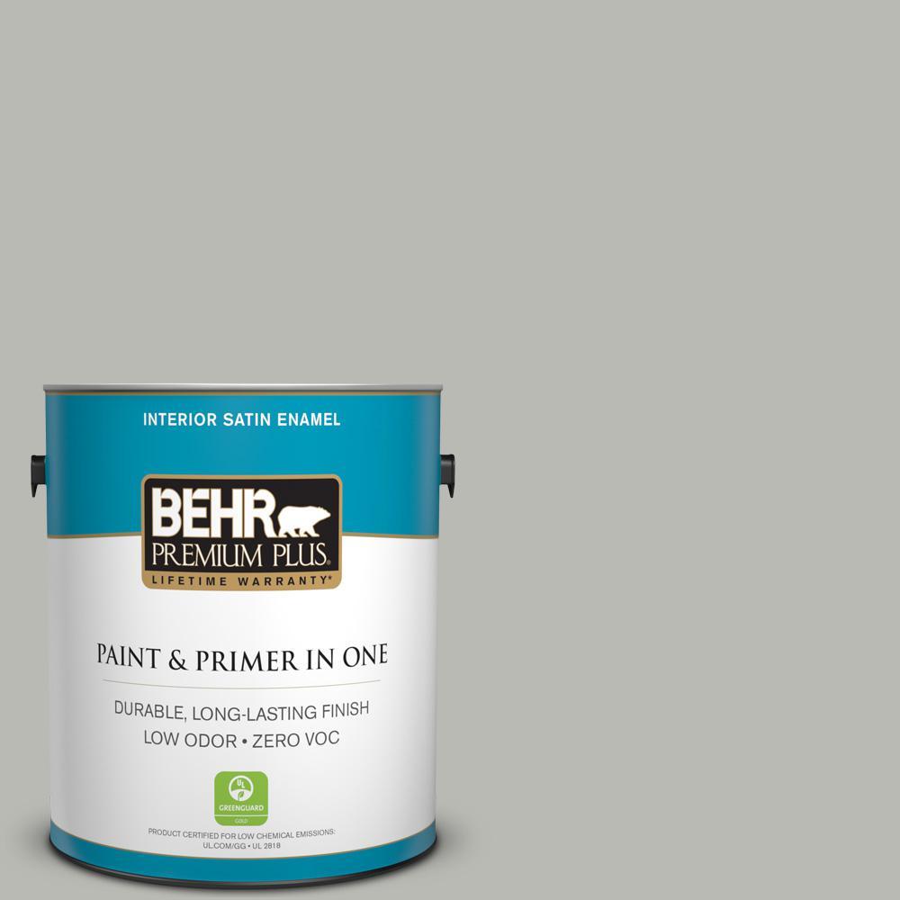 1-gal. #N380-3 Weathered Moss Satin Enamel Interior Paint