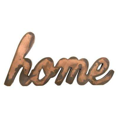 Brown Metal Home Wall-Decor