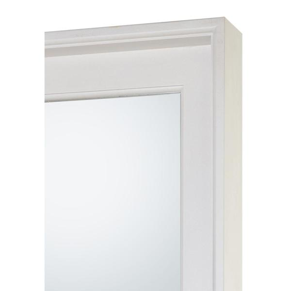 Home Decorators Collection 24 In W X 32 In H Framed Rectangular Bathroom Vanity Mirror In White Wash Ciwwm2432 The Home Depot