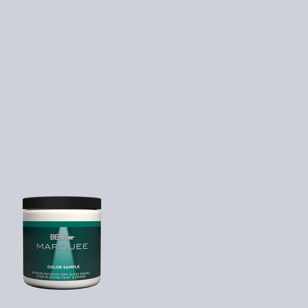 #MQ3 61 Moonlit Snow One Coat Hide Interior/Exterior Semi Gloss Enamel Paint  Sample MQ33016   The Home Depot