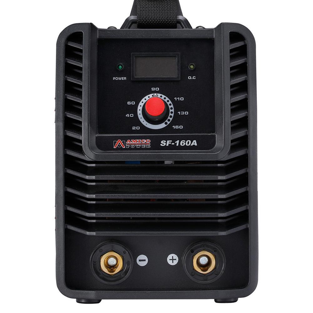160 Amp Stick Arc MMA DC Welder, 110-Volt and 230-Volt Dual Voltage IGBT Digital Inverter Welding Machine