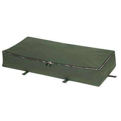 Natural Eastern Red Cedar Green Canvas Under the Bed Storage