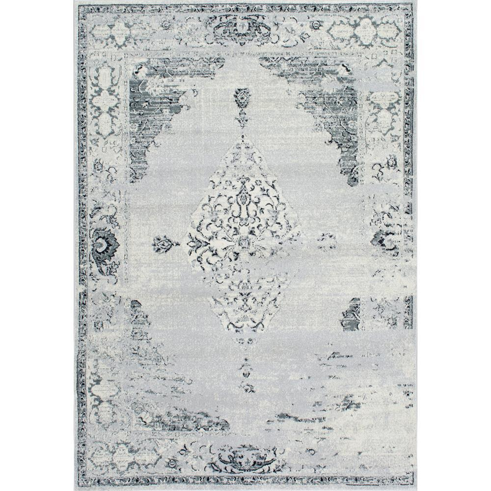 Nuloom Vintage Sherrell Light Grey 9 Ft X 12 Ft Area Rug