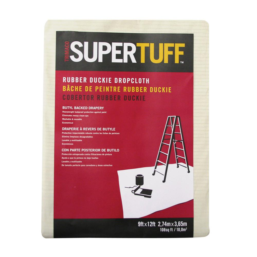 Trimaco SuperTuff 9 ft. X 12 ft. Rubber-Duckie Heavyweight Butyl Drop Cloth