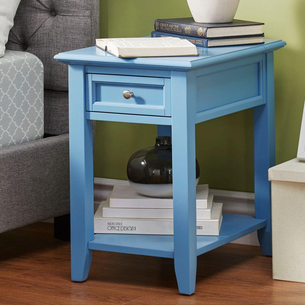 side table for living room. Harrison Blue Side Table  Accent Tables Living Room Furniture The Home Depot