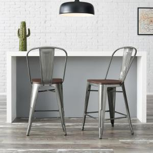 Brilliant Stylewell Finwick Gunmetal Gray Metal Counter Stool With Forskolin Free Trial Chair Design Images Forskolin Free Trialorg