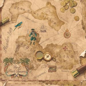 Brothers and Sisters V Pirates Map Wallpaper