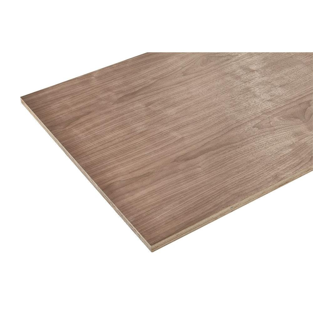 3/4 in. x 4 ft. x 4 ft. Europly Walnut Plywood