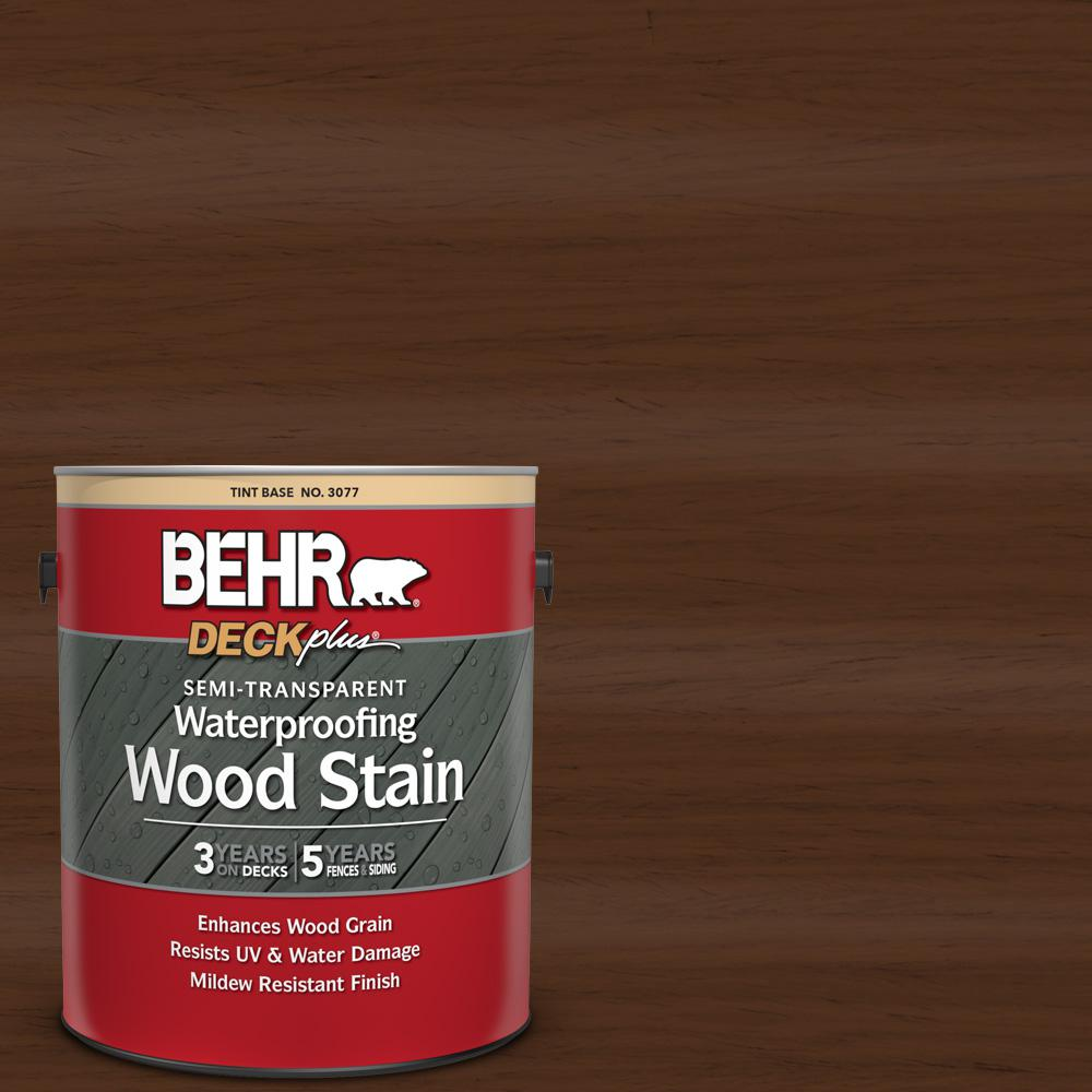 BEHR DECKplus 1 gal. #ST-123 Valise Semi-Transparent Waterproofing Exterior Wood Stain