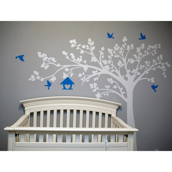 100 In X 79 In Big Tree With Love Birds Tree Removable Wall Decal