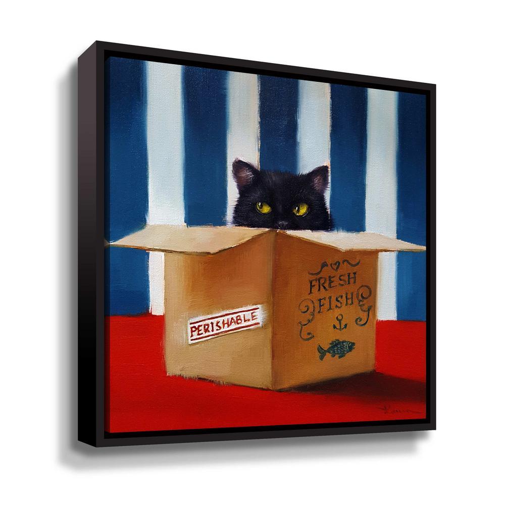 Cat Burglar' by Lucia Heffernan Framed Canvas Wall Art