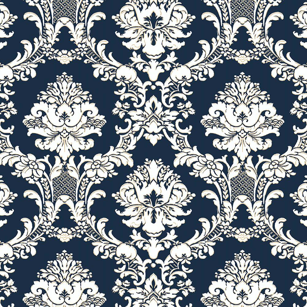 Norwall Document Damask Wallpaper Sd36120 The Home Depot