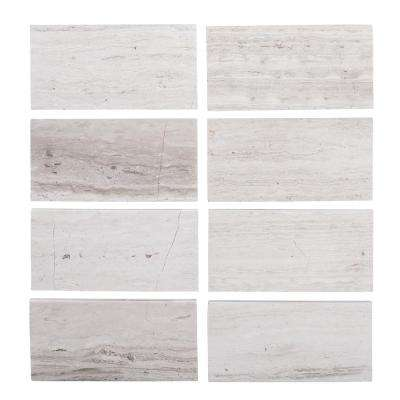 3 in. x 6 in. Honed Limestone Field Wall Tile (8-pieces / pack)