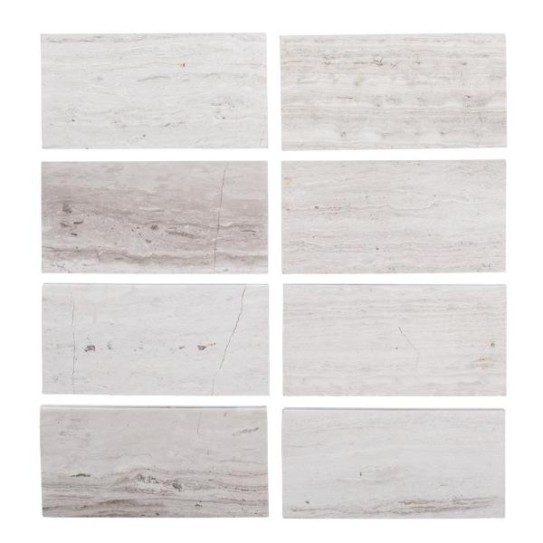 Limestone Gray 3 in. x 6 in. Honed Limestone Floor and Wall Tile (1 sq. ft. / pack)