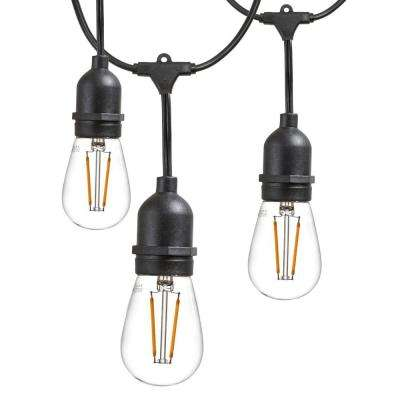 outdoor string lights commercial grade led hanging lights 9 light bulbs included