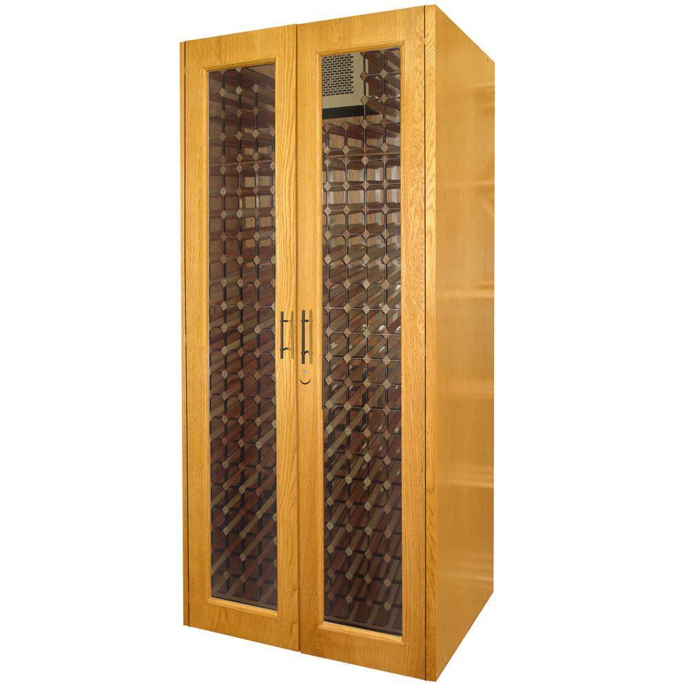 Vinotemp 458-Bottle Decorative Wine Cellar in White Wash