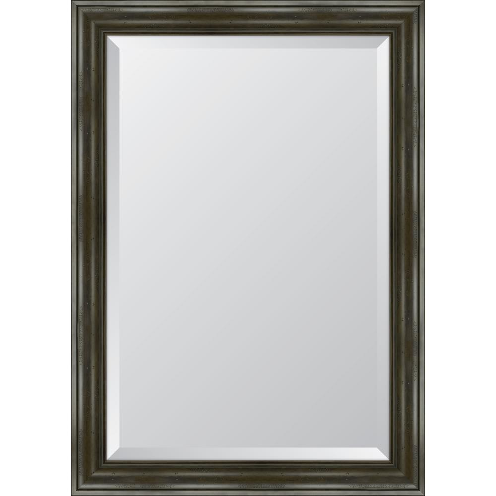 30 in. x 42 in. Grey English Pine Resin Frame Mirror
