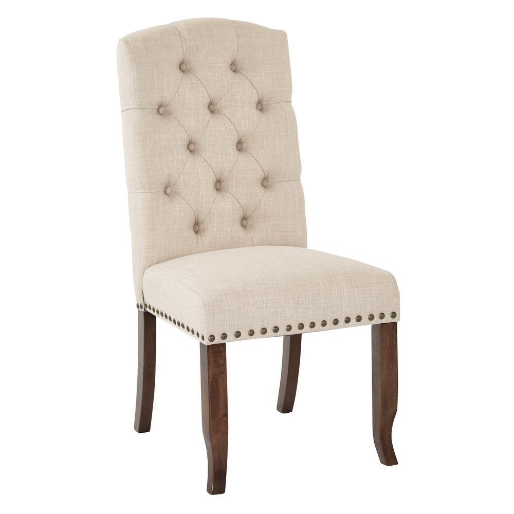 Ave Six Jessica Linen Tufted Dining Chair
