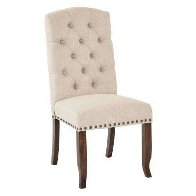 Jessica Linen Tufted Dining Chair