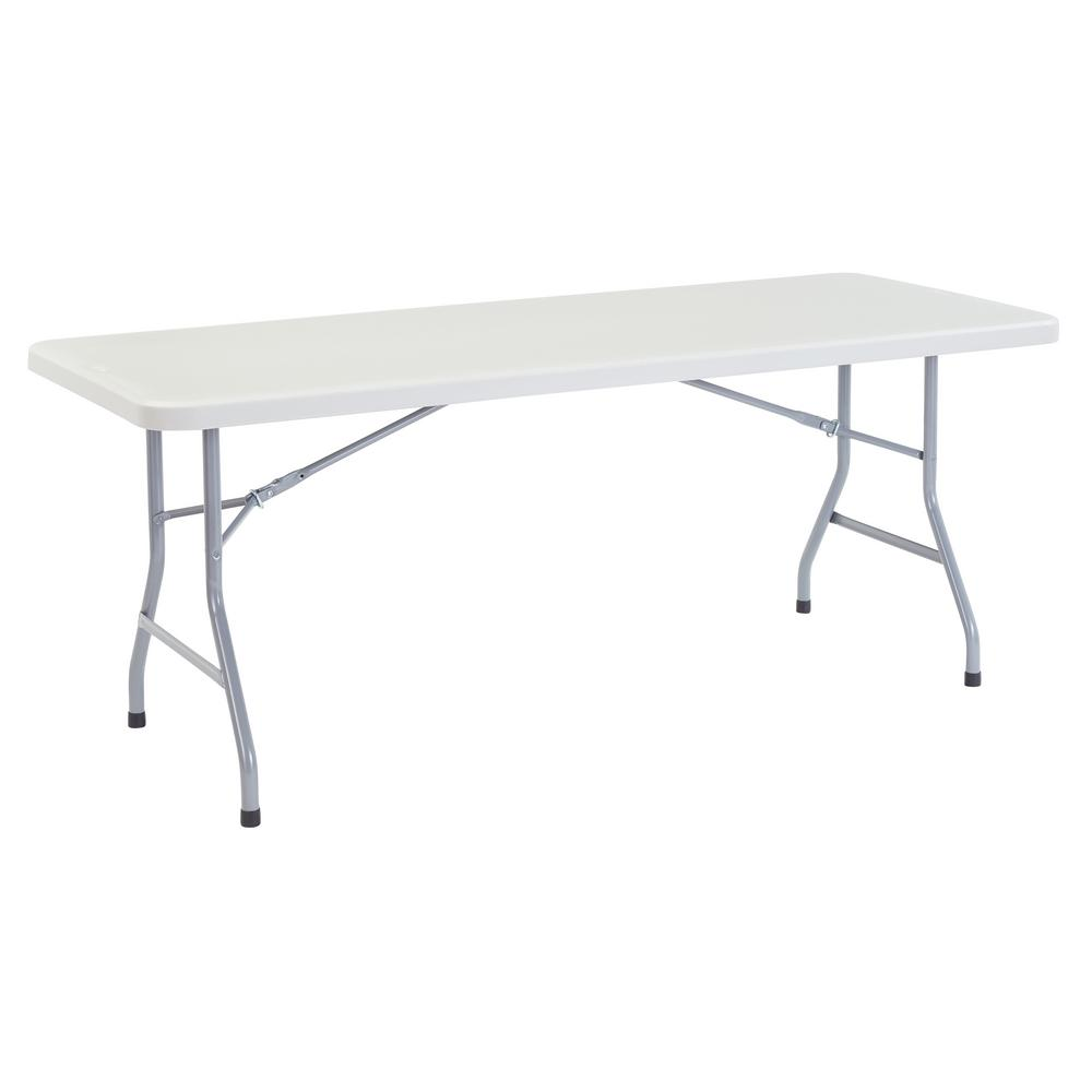 72 in. Grey Plastic Folding Banquet Table
