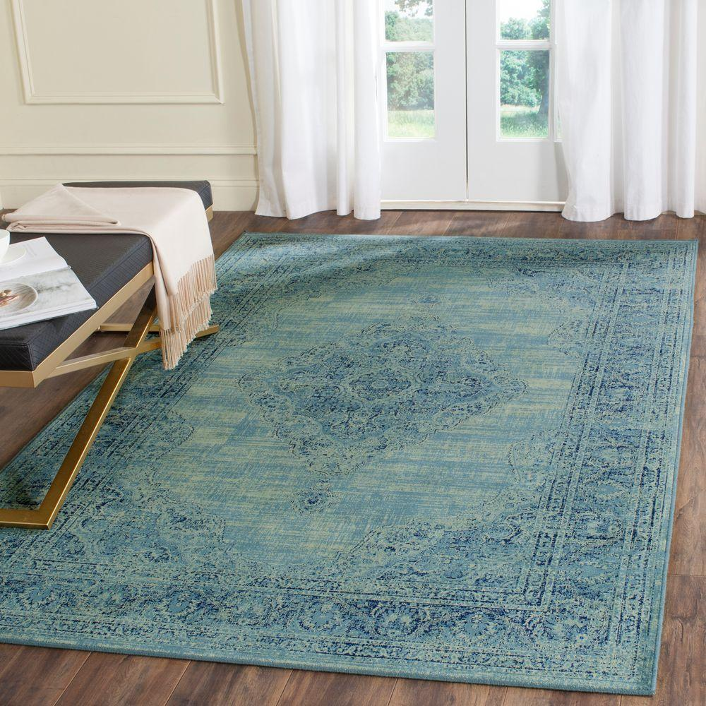 Safavieh Vintage Turquoise/Multi 7 Ft. 6 In. X 10 Ft. 6 In