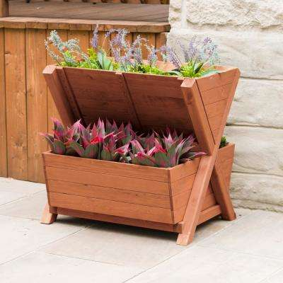 Wooden 2-Tier Planter Box