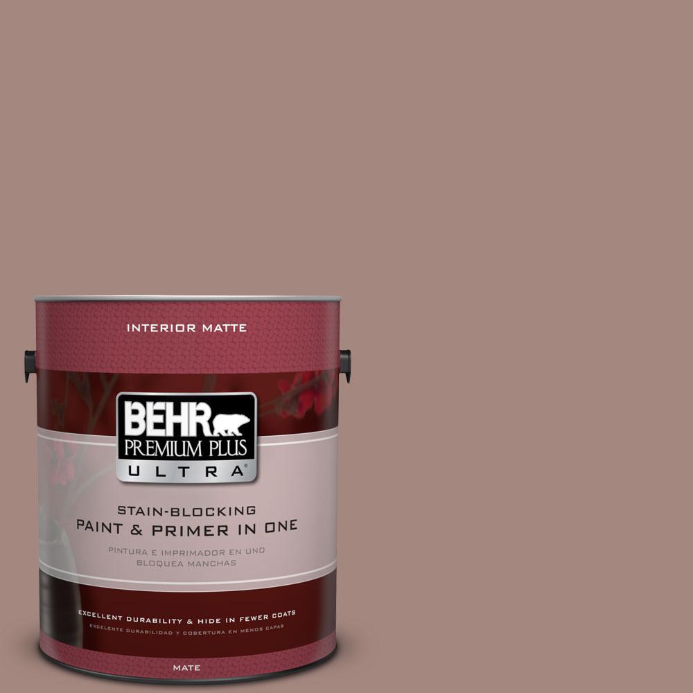 1 gal. #BNC-11 Pink Granite Matte Interior Paint