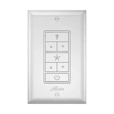 Ceiling fan remote wall controls ceiling fan parts the home depot indoor white universal wall mount ceiling fan control mozeypictures Choice Image