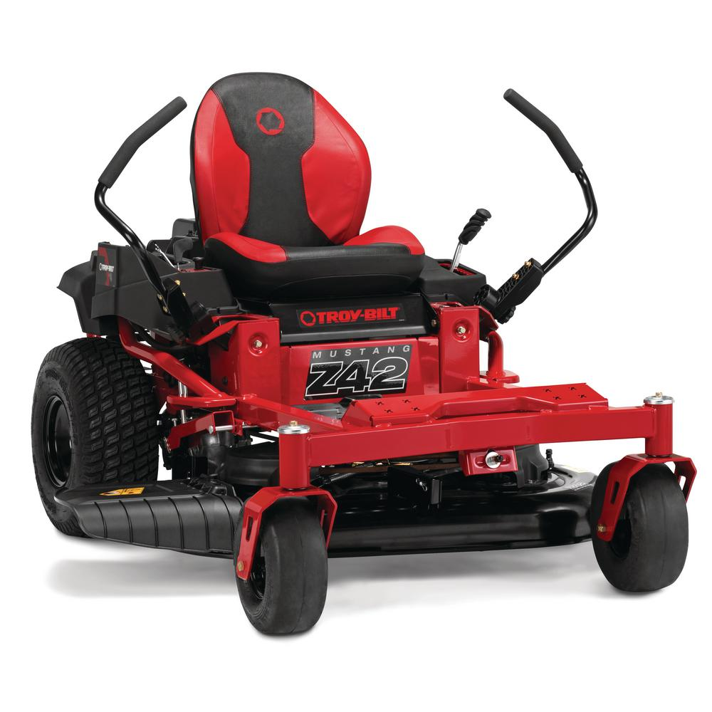 Troy Bilt 42 in. 679 cc V-Twin OHV Engine Gas Zero Turn Riding Mower with Dual Hydro Transmissions and Lap Bar Control