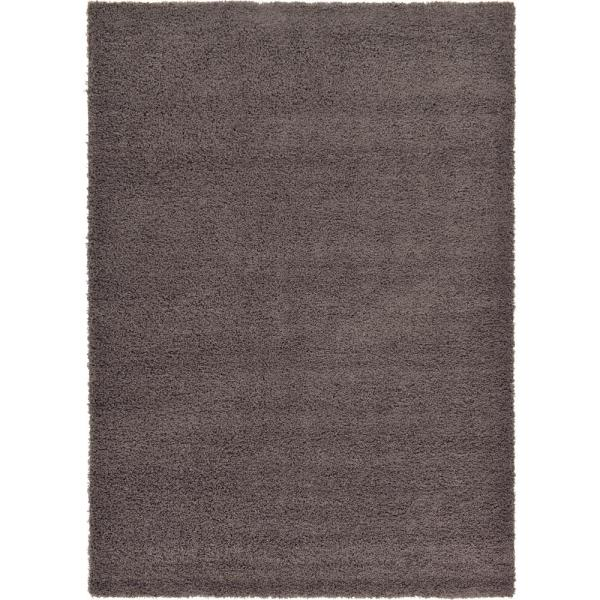 Solid Shag Graphite Gray 7 ft. x 10 ft. Area Rug