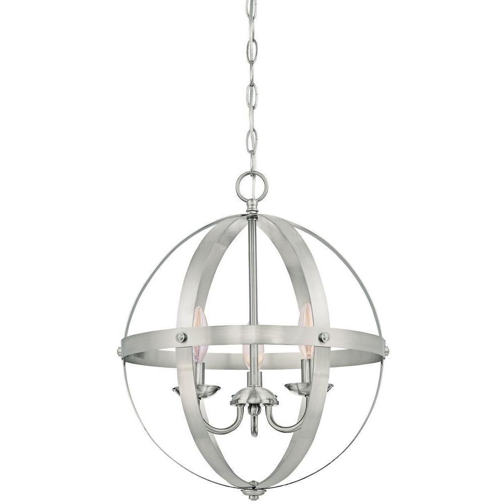 Stella Mira 3-Light Brushed Nickel Pendant