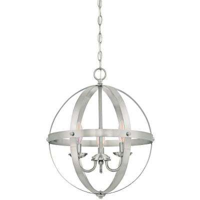 Stella Mira 3-Light Brushed Nickel Pendant