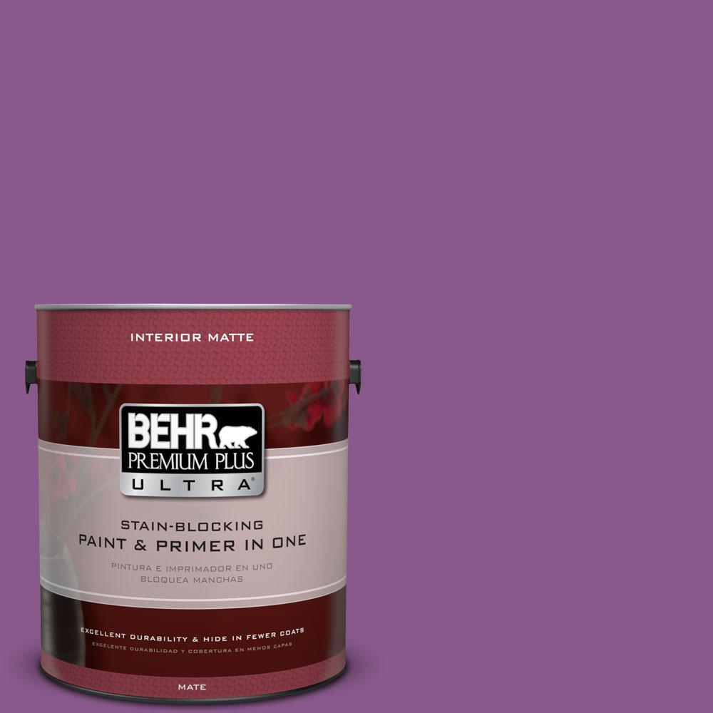 1 gal. #670B-7 Candy Violet Flat/Matte Interior Paint