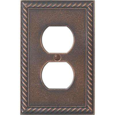 Pearson Rope 1 Gang Duplex - Oil-Rubbed Bronze