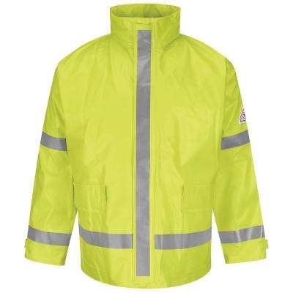 Men's Large Yellow / Green Hi-Visibility Breathable Rainwear