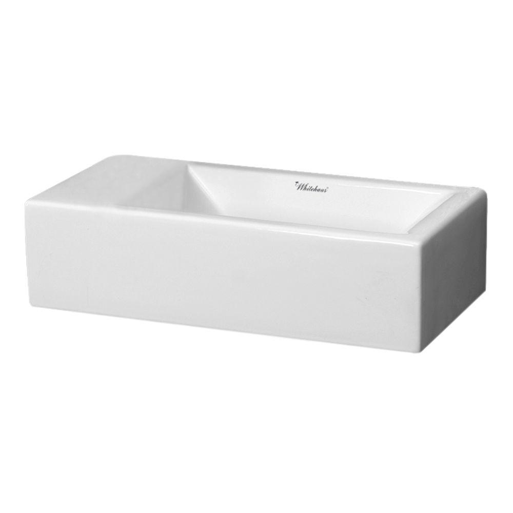 whitehaus collection wall mounted bathroom sink 15167