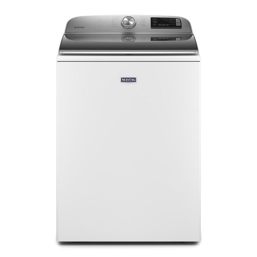 Maytag 4.7 cu. ft. Smart Capable White Top Load Washing Machine with Extra Power Button and Deep Fill Option