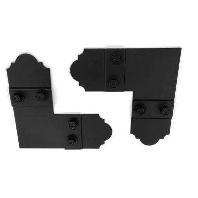 5 in. 90  Black Galv. Steel Flush Outside Wood Connector Plate with Laredo Sunset Truss Accents (2 sets per box)