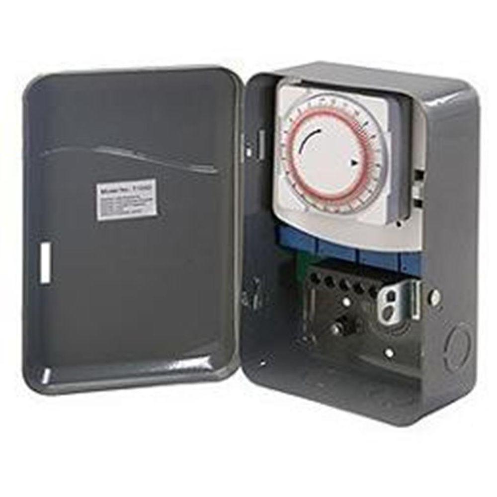 40 Amp 208-277-Volt Single Pole Single Throw Outdoor Mechanical Timer