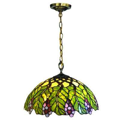 Pinot Noir 1-Light Tiffany Bronze Pendant
