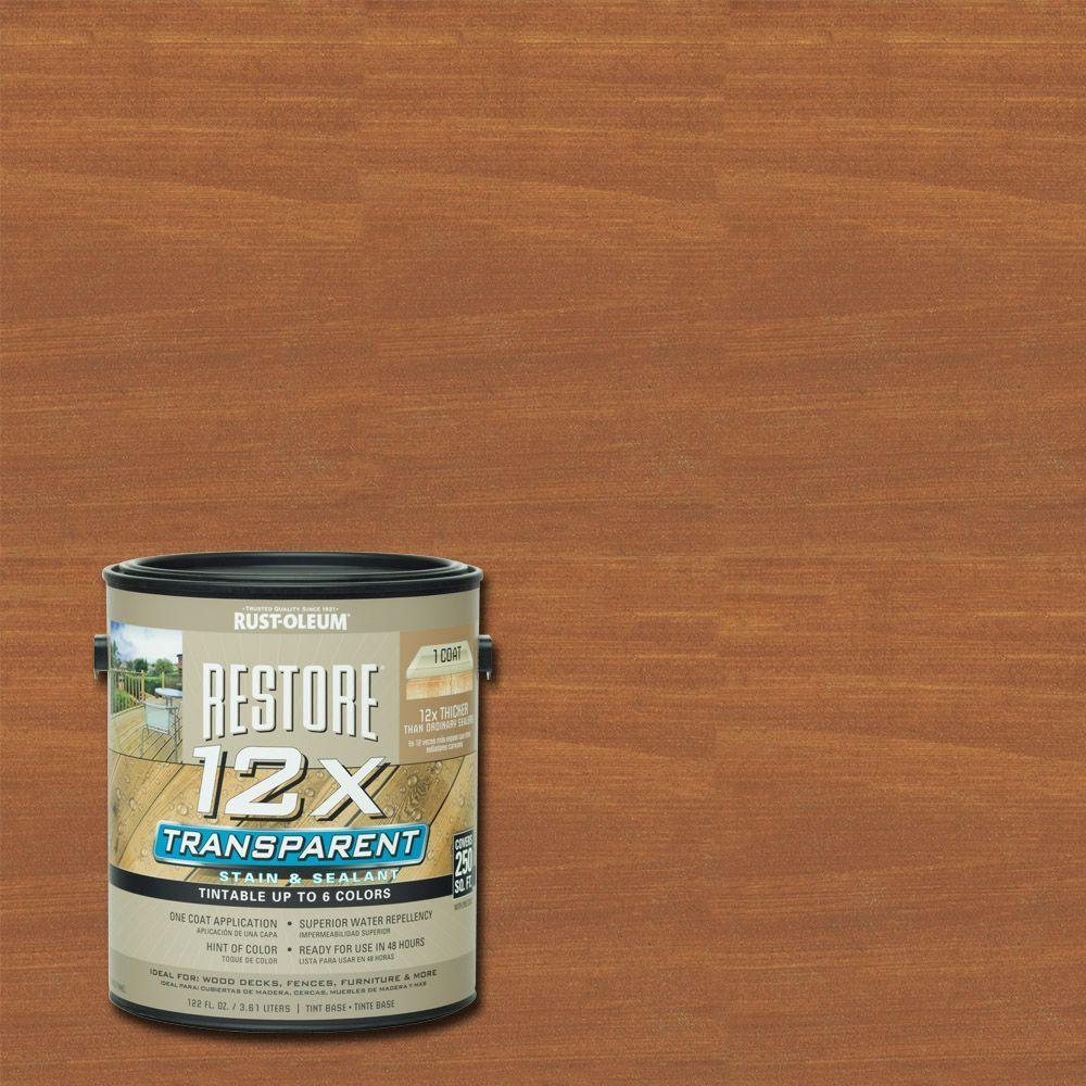 Rust Oleum Restore 1 Gallon 12x Transparent Hickory Stain