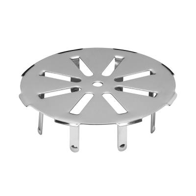 4 in. Round Push-In Stainless Steel Shower Drain Cover