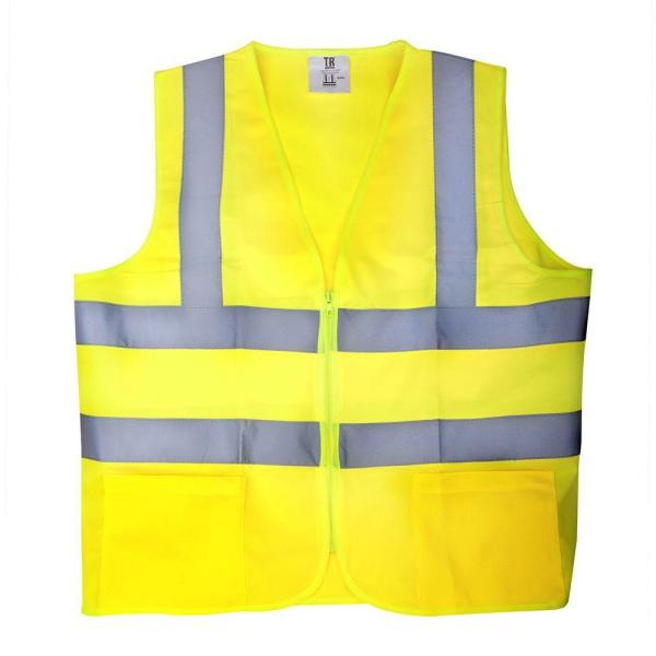 XL Yellow High Visibility Reflective Class 2 Safety Vest (5-Pack)