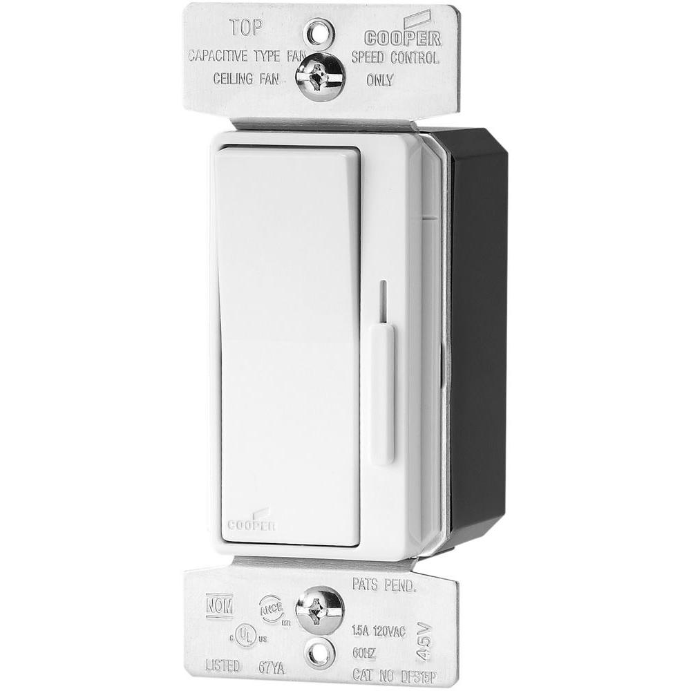Devine 1.5 Amp 120-Volt 3-Speed White Slide Fan Control