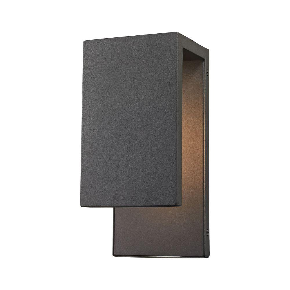 Titan Lighting Pierre Textured Matte Black Outdoor LED Wall Sconce