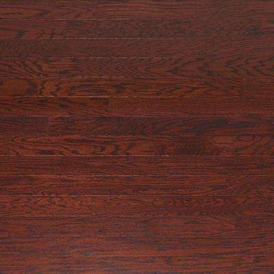 Scraped Oak Cabernet 3/8 in. Thick x 4-3/4 in. Wide x Random Length Engineered Click Hardwood Flooring (33 sq.ft./case)