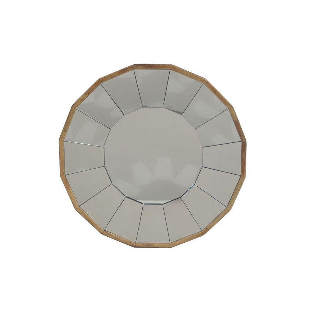 14.25 in. H x 14.25 in. W Kieran Gold Framed Wall Mirror