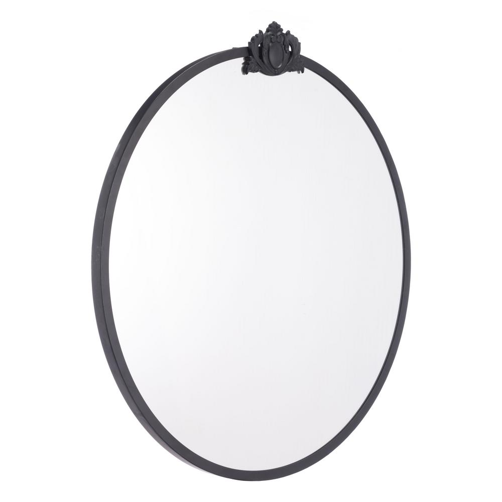 Zuo empire round black wall mirror a10728 the home depot for Round black wall mirror