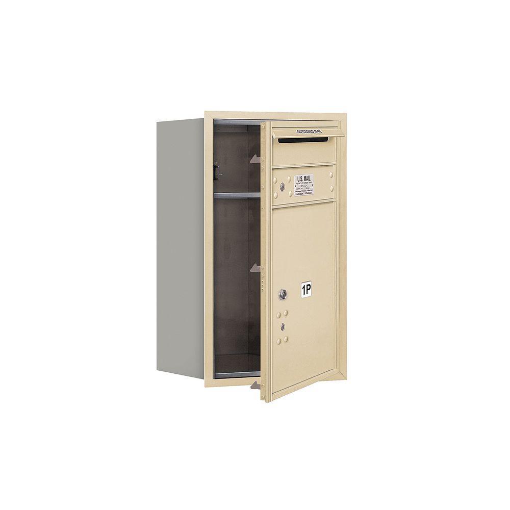3700 Series 27 in. 7 Door High Unit Parcel Locker 1 PL5 4C Private Front Loading Horizontal Mailbox in Sandstone