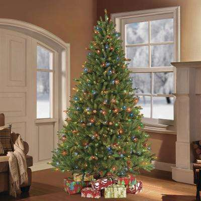 7.5 ft. Pre-Lit Fraser Fir Artificial Christmas Tree with 750 Clear/Multi-Colored LED Lights
